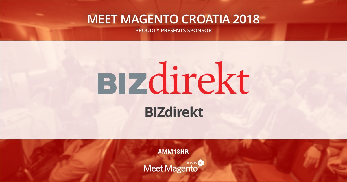 BIZdirekt is a Supporting Partner of Meet Magento 2018 conference