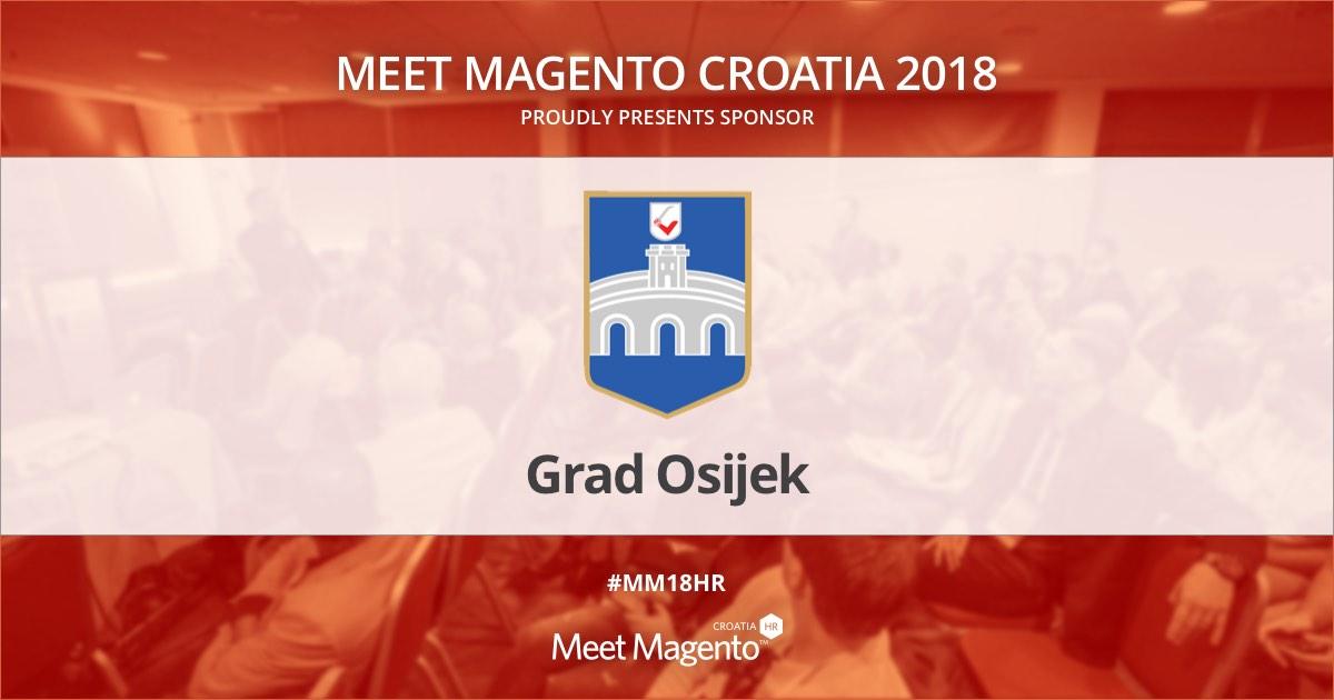 City administration of Osijek is a Sponsor of Meet Magento Croatia 2018